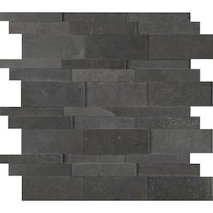 Neptune 3D 12 in. x 12 in. x 10 mm Honed Basalt Mosaic Tile (10 sq. ft. / case)