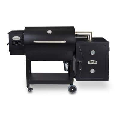 Champion LG900C Wood Pellet Grill with Smoke Box, Front Shelf and Grill Cover