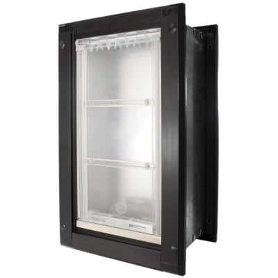 12 in. x 23 in. Extra Large Single Flap for Walls with Black Aluminum Frame