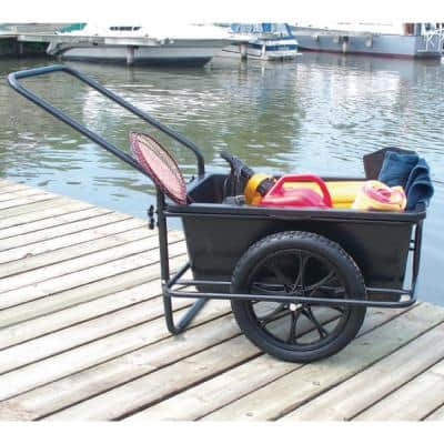 Powder Coated Steel Frame iCart Dock Cart With Removable Poly Bucket