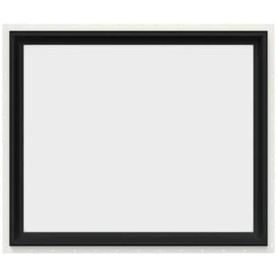 36 in. x 30 in. V-2500 Series Bronze FiniShield Vinyl Picture Window w/ Low-E 366 Glass