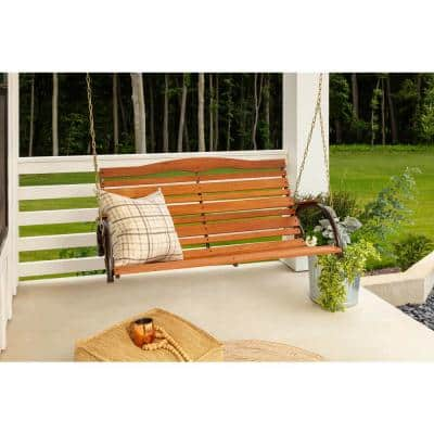 Country Garden Hardwood High Back Patio Swing Seat with Chains