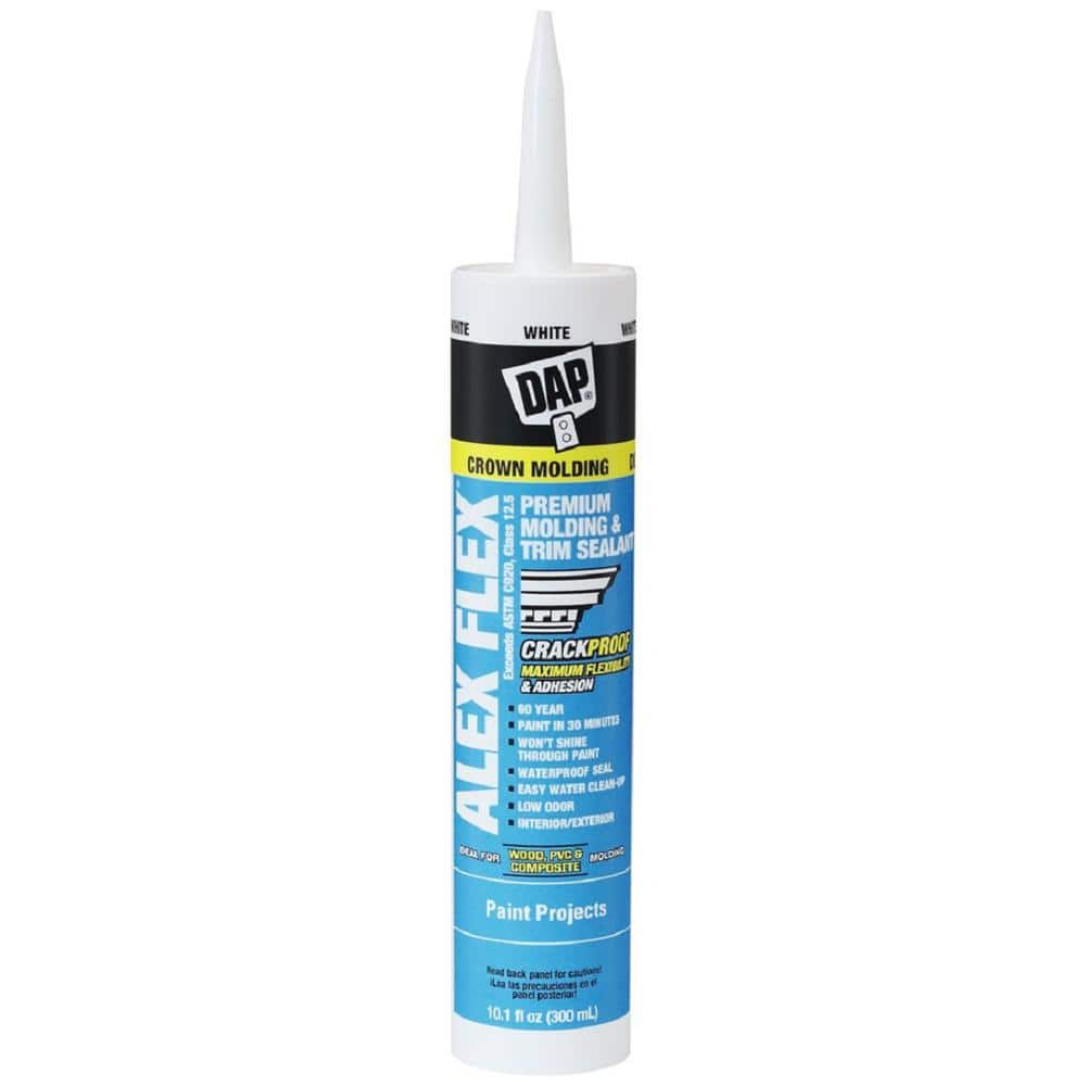 DAP Alex Flex 10.1 oz. White Premium Molding and Trim Sealant