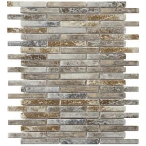 Rustica Brick Noce Slate 10-3/4 in. x 12-3/4 in. x 8 mm Porcelain Mosaic Tile