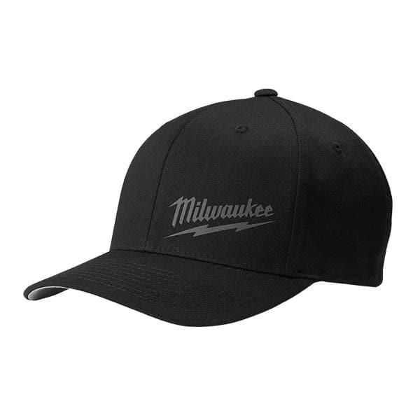 Milwaukee Small Medium Black Fitted Hat 504b Sm The Home Depot