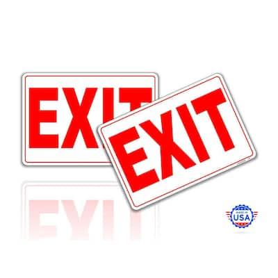 Exit Only Sign Stickers 7 in. x 10 in. 2 Pack Door Self Adhesive Vinyl Decals