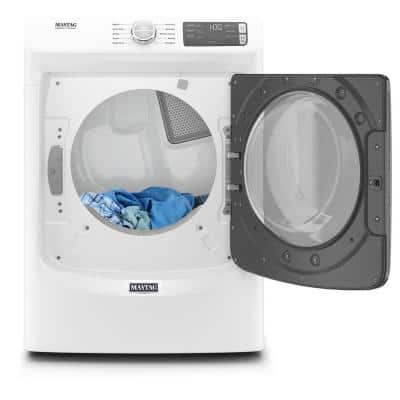 7.3 cu. ft. 240-Volt White Stackable Electric Vented Dryer with Quick Dry Cycle, ENERGY STAR
