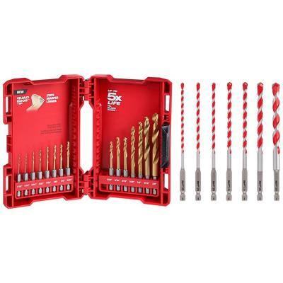 SHOCKWAVE IMPACT DUTY Titanium Drill Bit Set W/ Carbide Hammer Drill Bit Kit (22-Piece)