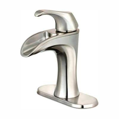 Brea 4 in. Centerset Single-Handle Bathroom Faucet in Brushed Nickel