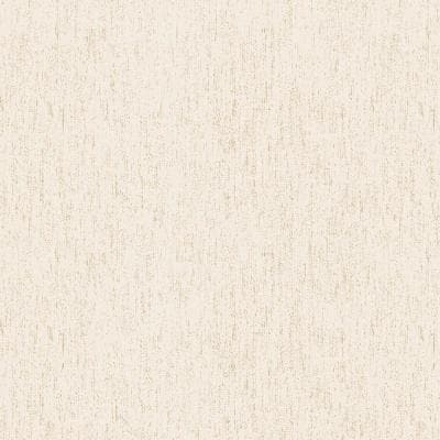 Cream/Cream Speckled Texture Vinyl Non-Woven Strippable Roll Wallpaper (Covers 59.2 sq. ft.)