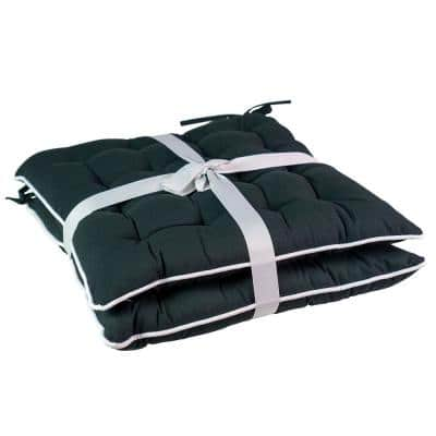 16 in. L x 15 in. W x 2.5 H Square Outdoor Dining Chair Seat Cushion (2-Pack)