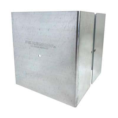 5.5 in. x 5.5 in. x 1/2 ft. H Galvanized Steel Pro Series Mailbox and Fence Post Guard