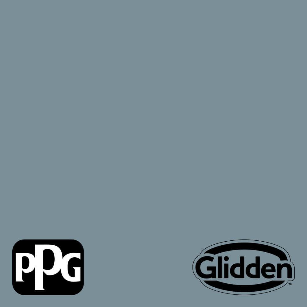 Glidden Essentials 1 Gal Ppg1153 5 Chalky Blue Semi Gloss Interior Paint Ppg1153 5e 01sg The Home Depot