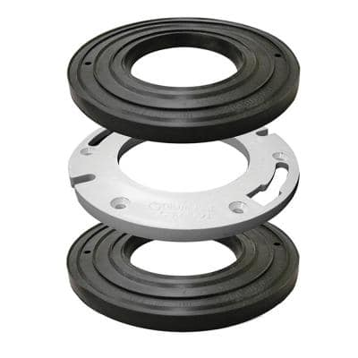 Closet Flange Spacer Kit with 2 Rubber Gaskets, 1/2 in. Plastic Spacer, Closet Bolts and 2 Plastic Shims