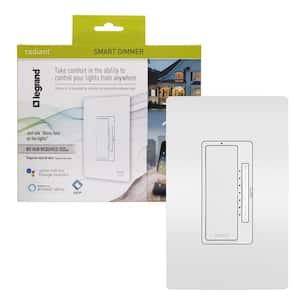 Radiant Smart Tru-Universal 450-Watt Single Pole/3-Way LED/CFL/Incandescent WiFi Smart Dimmer, White