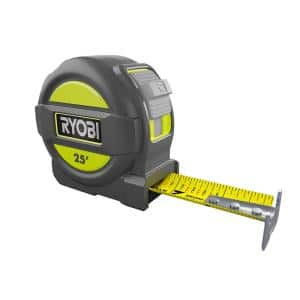 25 ft. Tape Measure with Overmold and Wireform Belt Clip
