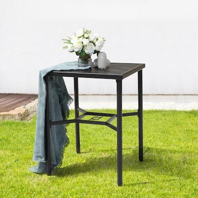 Black Metal Outdoor Bistro Table