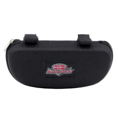 Auto Boss Eyewear Car Visor Case with Adjustable Elastic Strap and Zip Closure in Black