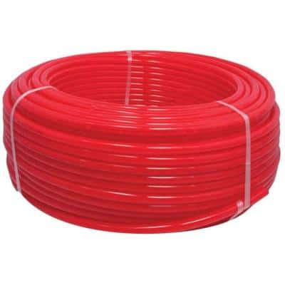 1/2 in. x 100 ft. Red Polyethylene PEX Tubing Oxygen Barrier Radiant Heating Pipe