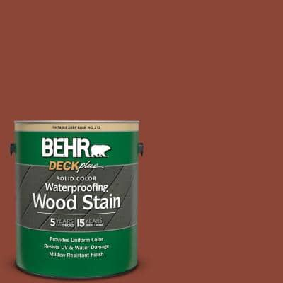 1 Gal. #SC-330 Redwood Solid Color Waterproofing Exterior Wood Stain