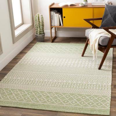 Shiloh Green 6 ft. 7 in. x 9 ft. Moroccan Area Rug