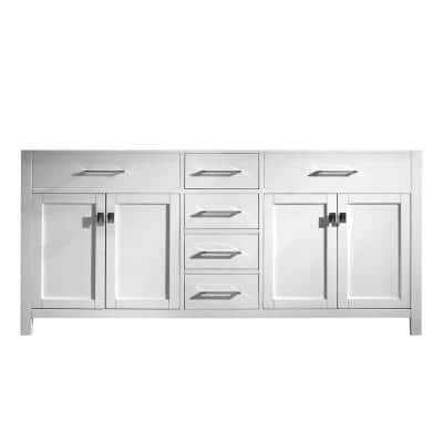 Caroline 72 in. W Bath Vanity Cabinet Only in White