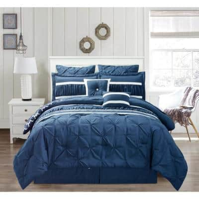 Marlin 10-Piece Navy King Comforter Set