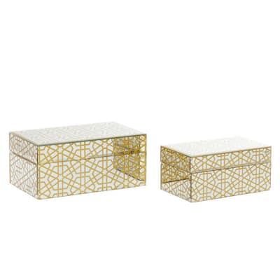 Gold Wood Box