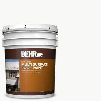 5 gal. White Reflective Flat Multi-Surface Exterior Roof Paint