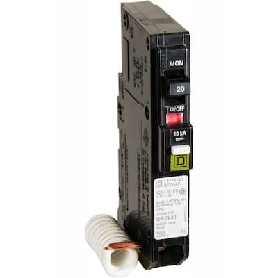 QO 20 Amp Single-Pole Combination Arc Fault Circuit Breaker