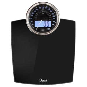 Rev 400 lbs. Digital Bathroom Scale with Electro-Mechanical Weight Dial and 50 g Sensor Technology