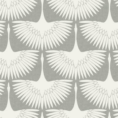 Genevieve Gorder Feather Flock Chalk Peel and Stick Wallpaper (Covers 28 sq. ft.)
