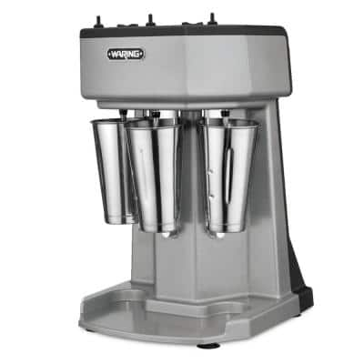 Heavy-Duty Drink Mixer 16 oz. 3-Speed Stainless Steel Blender Silver with Triple-Spindle, Timer, 3-Cups Included