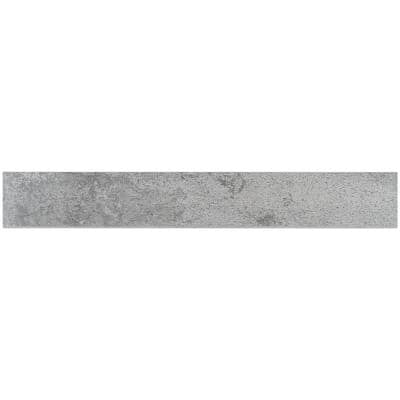Hempstead Silver 3.34 in. x 23.62 Matte Porcelain Floor and Wall Bullnose Tile