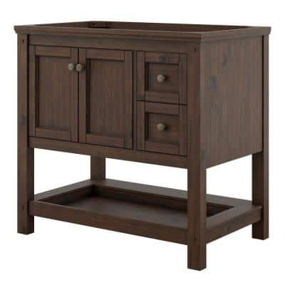 Shay 36 in. W x 22 in. D x 34 in. H Bath Vanity Cabinet Only in Rustic Mango