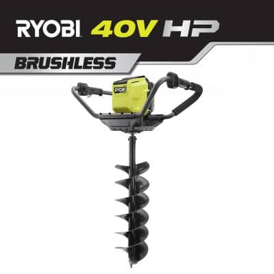 RYOBI HP 40V Brushless Cordless Earth Auger w/ 8-in Bit (Tool Only)