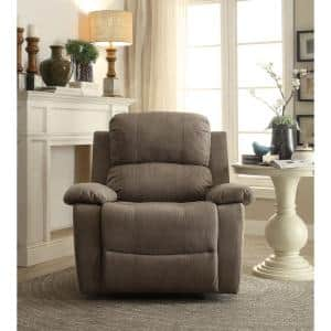 Bina 38 in. Width Big and Tall Gray Microfiber 1 Position Recliner
