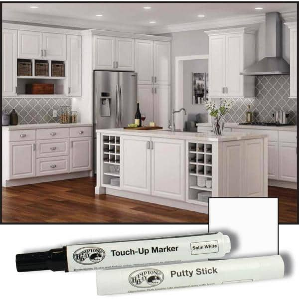 Hampton Bay Touch Up Kit In Satin White M827 2004 The Home Depot