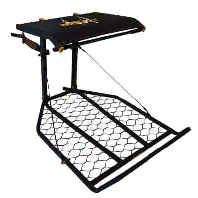 The Boss XL Wide Stance Hang on 1-Person Deer Hunting Tree Stand Platform