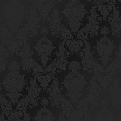 Damsel Black Peel and Stick Wallpaper (Covers 56 sq. ft.)