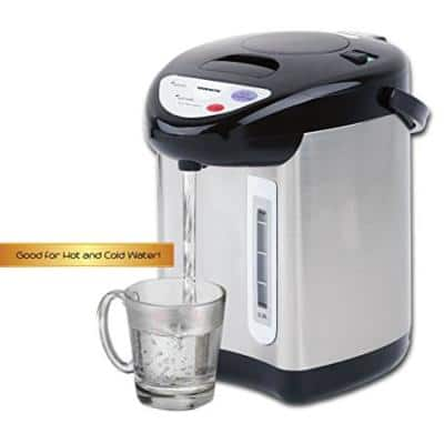 Stainless Steel Single-Handle Insulated Water Dispenser with Boiler and Keep Warm Function in Silver