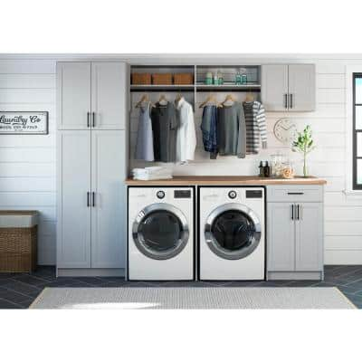 Installed Laundry Room Organization System