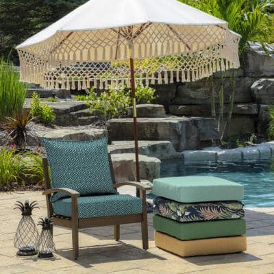 24 in. x 24 in. Alana Tile 2-Piece Deep Seating Outdoor Lounge Chair Cushion