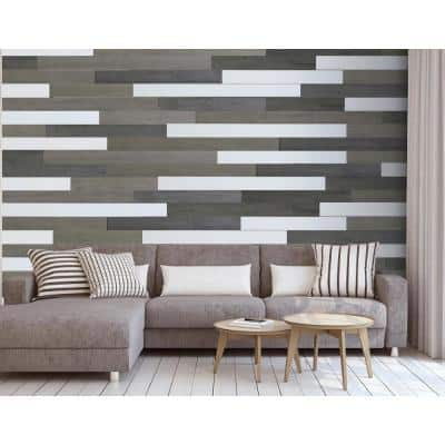 5 in. W x 48 in. L Reclaimed Peel and Stick Solid Wood Wall Paneling (1-Box)