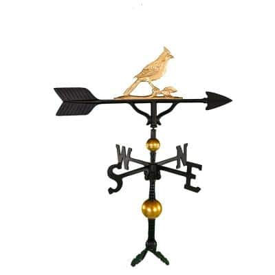 32 in. Deluxe Gold Cardinal Weathervane