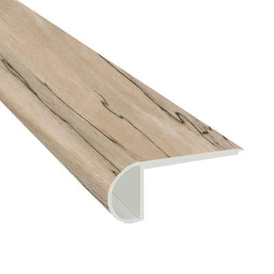 Brookpark Oak 3/4 in. Thick x 2 3/4 in. Wide x 94 in. Length Luxury Vinyl Flush Stair Nose Molding