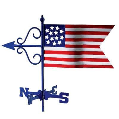 Americana Flag Garden Weathervane - with Garden Pole