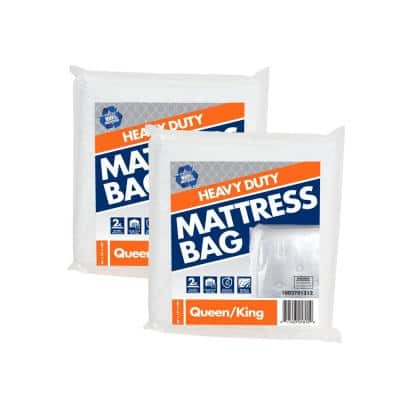 99 in. D x 77.5 in. H x 14 in. W Heavy-Duty Queen and King Mattress Bag (2-Pack)