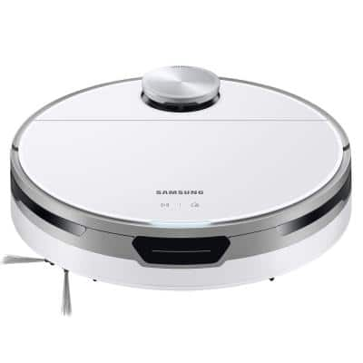 Jet Bot Robotic Vacuum Cleaner with Intelligent Power Control in White