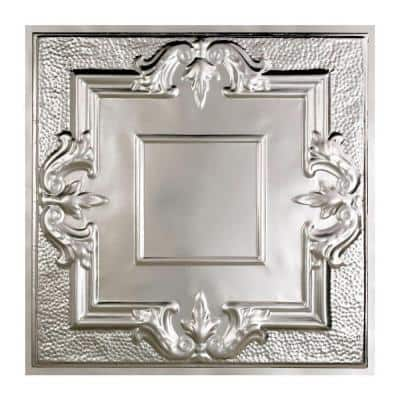 Niagara 2 ft. x 2 ft. Lay-in Tin Ceiling Tile in Clear (20 sq. ft. / case of 5)